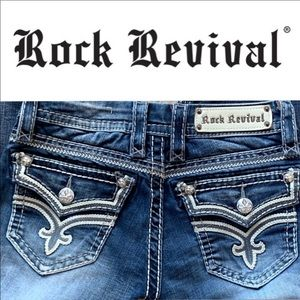Rock Revival Jeans - ROCK REVIVAL ASHLEY BOOT JEANS 25 X 34